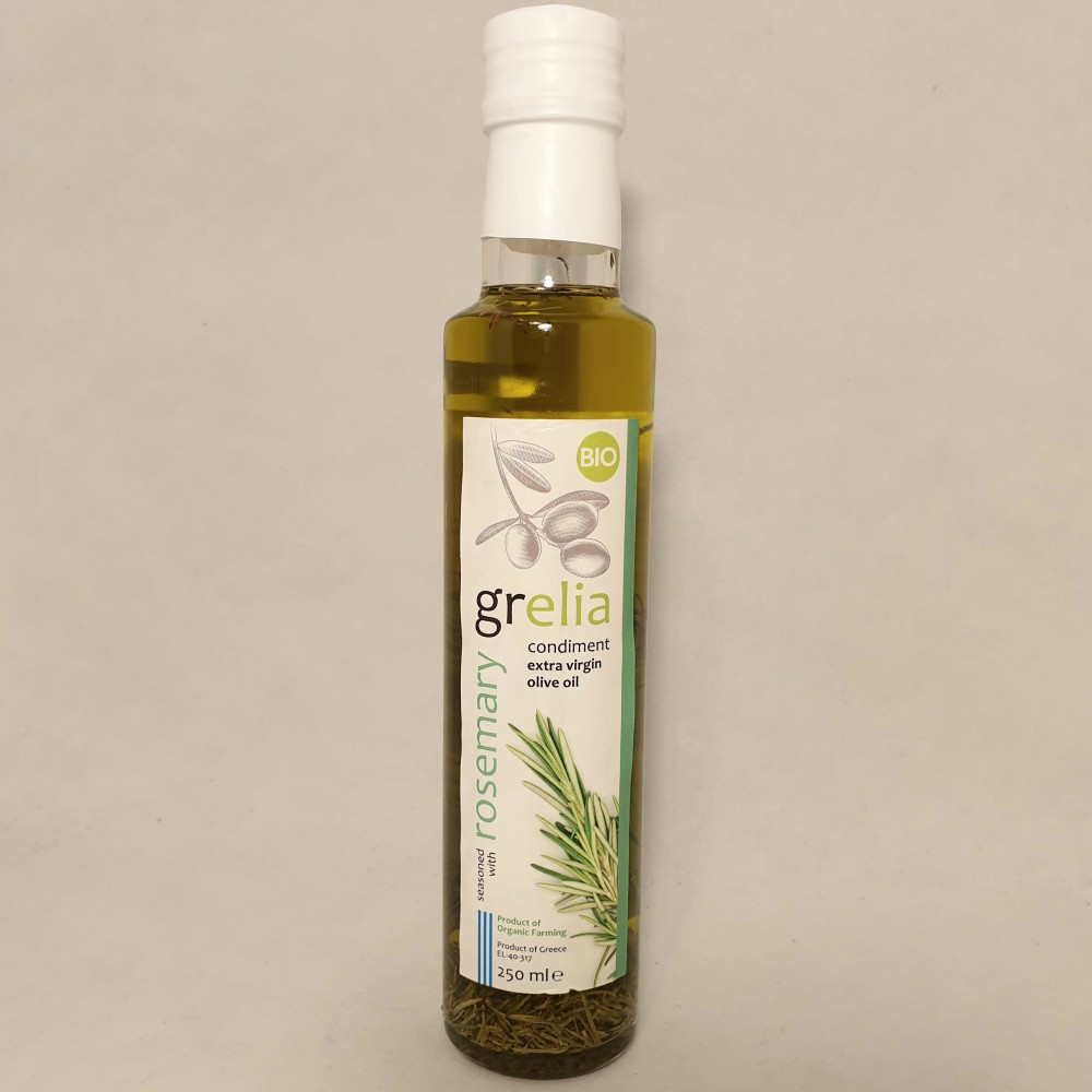Olivolja extra virgin eko, 250ml med rosmarin