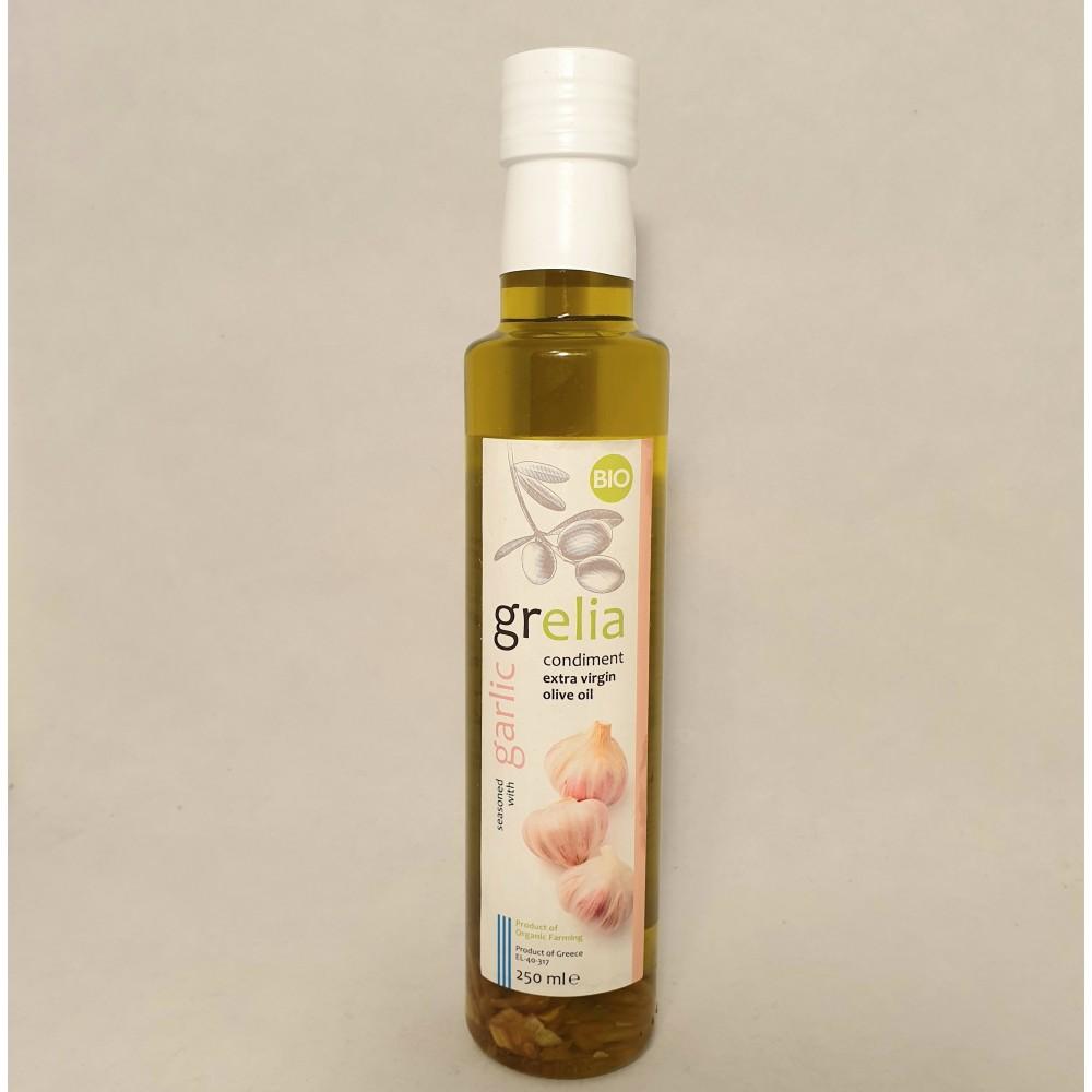 Olivolja extra virgin eko, 250ml med vitlök