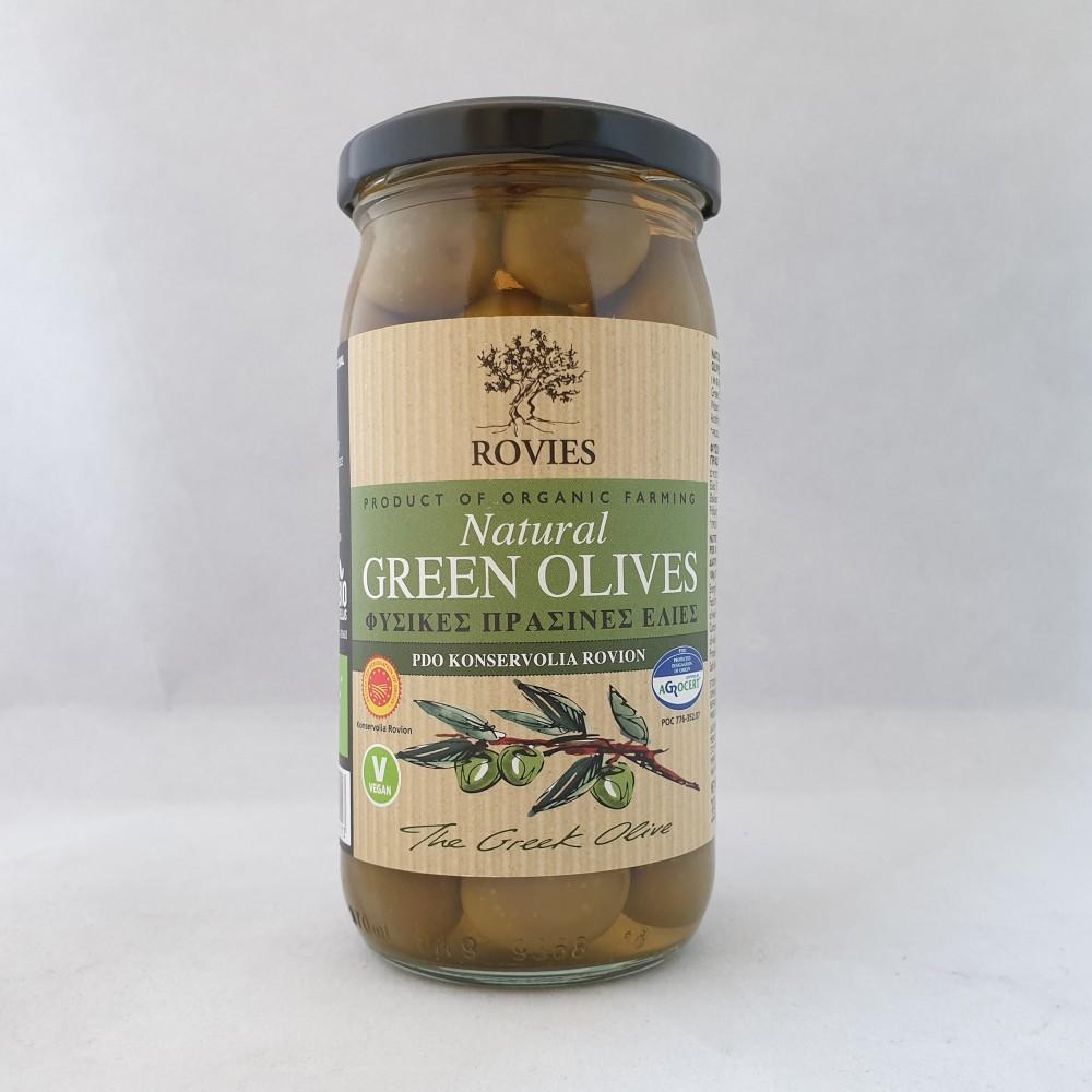 Gröna ekologiska oliver, 210g